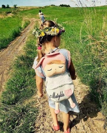 Grey Metoo Angela Personalized Backpack