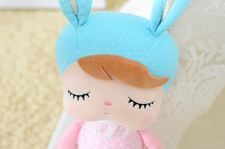 Metoo Angela Bunny Doll in Pink Dress
