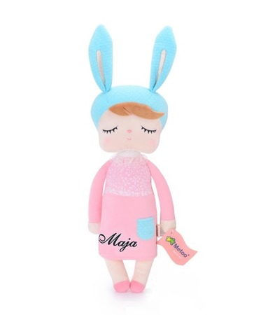 Metoo Angela Personalized Bunny Doll in Pink Dress