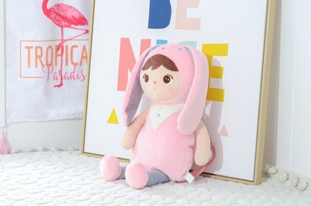 Metoo Personalized Bunny Girl Backpack