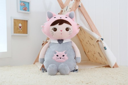 Metoo Personalized Cat Girl Backpack