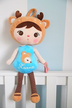 Metoo Personalized Deer Girl Doll