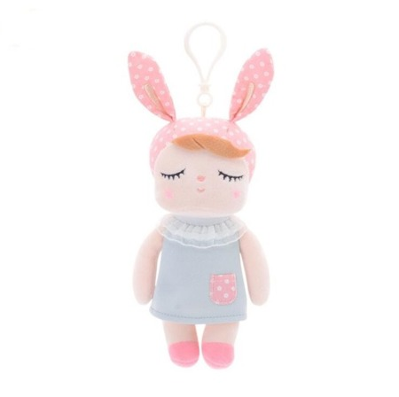 Mini Metoo Angela Personalized Bunny Doll in Grey Dress