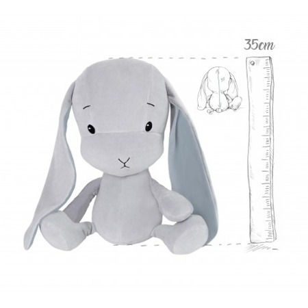 Personalized Bunny Effik M - Gray with Gray ears 35 cm