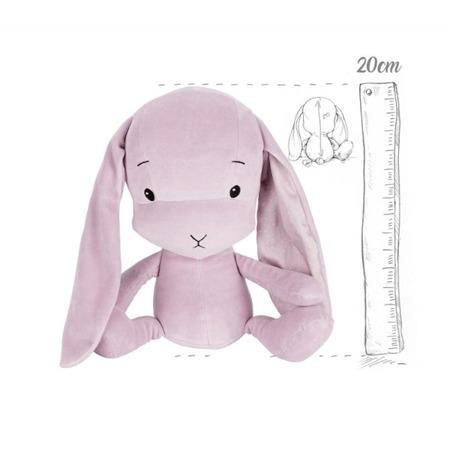 Personalized Bunny Effik S - Dusty Pink + dots by Małgosia Socha 20 cm