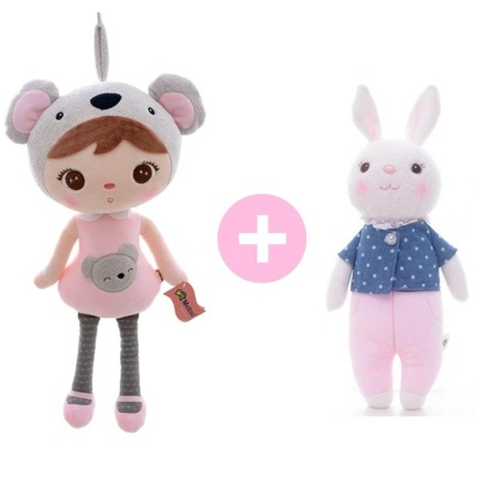 Personalized Set of Dolls -  Koala Girl and Tiramisu
