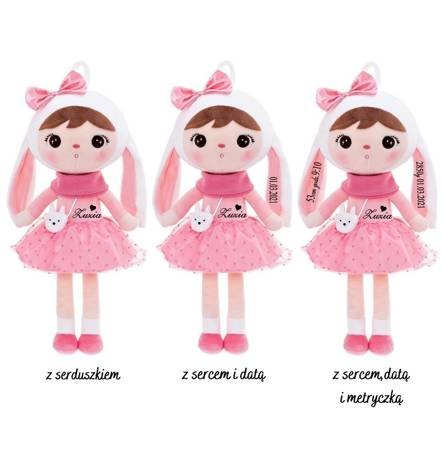 Set of Dolls - Personalized Bunny Girl with Bow and Mini Doll