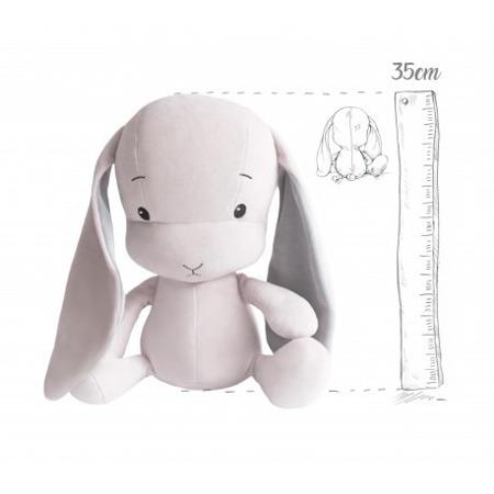 Effik Królik M personalizowany - Różowy z Szarymi uszami 35 cm