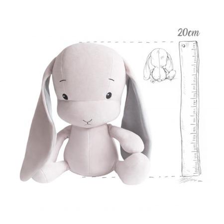 Effik Królik S personalizowany - Różowy z Szarymi uszami 20 cm