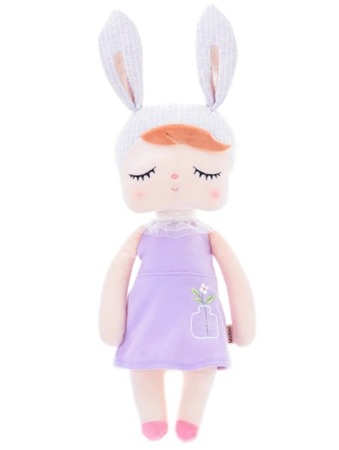Lalka Metoo Personalizowana Uszatka w Fioletowej Sukience