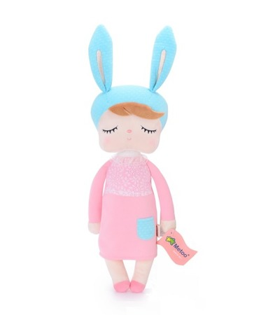 Lalka Metoo uszatka w różowej sukience