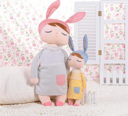 Lalka Personalizowana Uszatka w Szarej Sukience XL